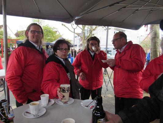 In der Pause tat ein guter heißer Kaffee gut.