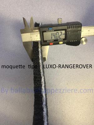 Moqutt per tappeti auto tipo LUXO-RANGEROVER- By ballabioiltappezziere.com