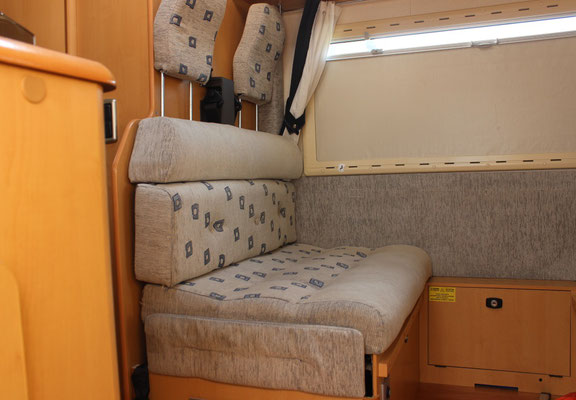 interno in tessuto camper roller team  - PRIMA - By ballabioiltappezziere.