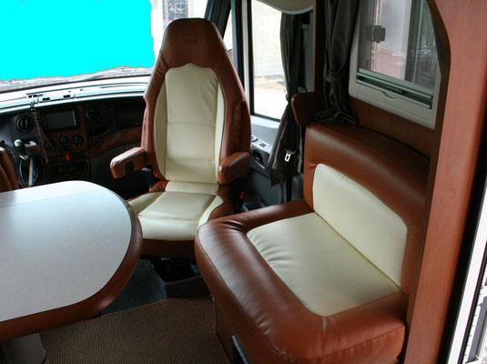 Dopo la sostituzione del rivestimento sedili motorhome.