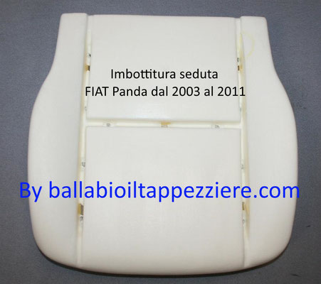 imbottitura seduta fiat panda dal 2003 al 2011.Ballabioiltappezziere.com