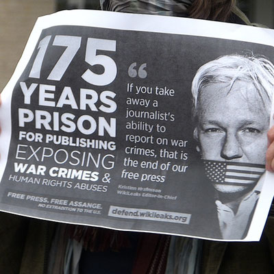 15.04.2021 - Free Assange Berlin von der US-Botschaft