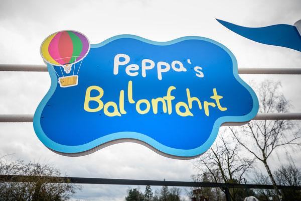 Heide park peppa ballonfahrt