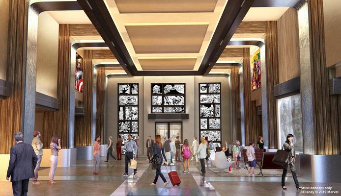 Disney's Hotel New York - The Art of Marvel Lobby