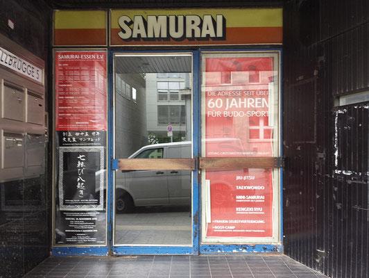 Eingang zur Kampfkunstschule SAMURAI Essen e.V.