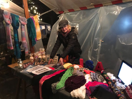 Katrin in action on the christmas market in Pratteln
