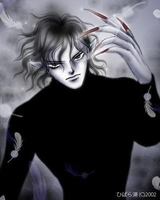 黒い男(挿絵)