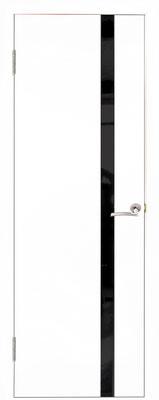 """26. Межкомнатная дверь """"Стиль 2.1"""" со вставкой из тёмного стекла. ЦЕНА: 6815 рублей."""
