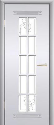 """5. Межкомнатная дверь """"PR-35"""" (с решёткой). ЦЕНА: 6235 рублей."""