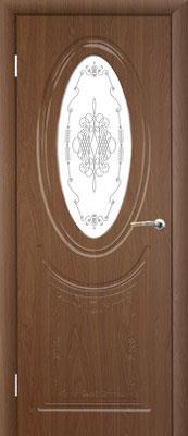 """18. Межкомнатная дверь """"Венеция"""" (с витражным стеклом). ЦЕНА: 7540 рублей."""