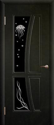 """15. Межкомнатная дверь """"Медуза"""" (бок., со стеклом). ЦЕНА: 6380 рублей."""