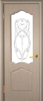 """7. Межкомнатная дверь """"PR-38"""" (со стеклом). ЦЕНА: 6235 рублей."""