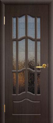 """4. Межкомнатная дверь """"Ампир"""" (со стеклом). ЦЕНА: 6525 рублей."""