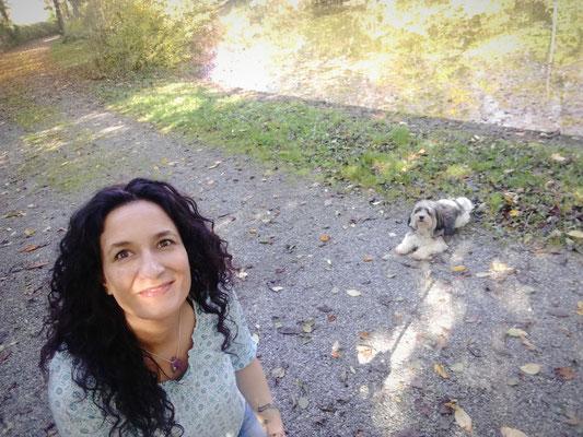 ... und immer unterwegs mit meinem kleinen Bolonka :)
