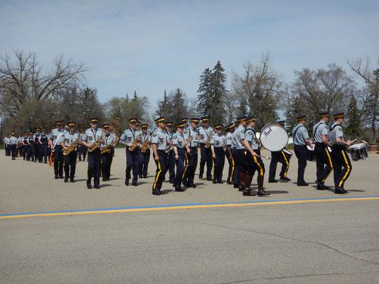 Die Parade der Polizeianwärter