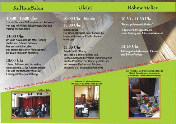 Das Programm des Tages, wir freuen uns Sie begrüßen zu dürfen!