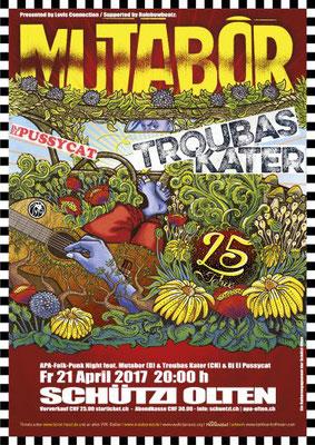 21.04.17  ll  MUTABOR  l  TROUBAS KATER  l  DJ PUSSYCAT