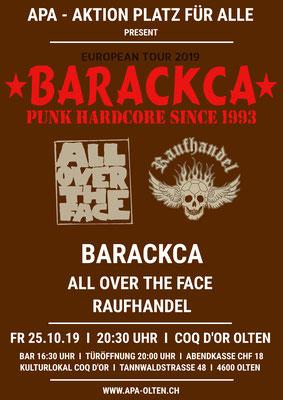 25.10.19  ll  BARACKCA  l  RAUFHANDEL  l  ALL OVER THE FACE