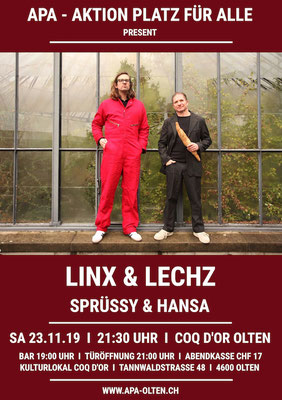 23.11.19  ll  LINX & LECHZ  l  SPRÜSSY & HANSA