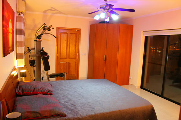 Gym in the main bedroom