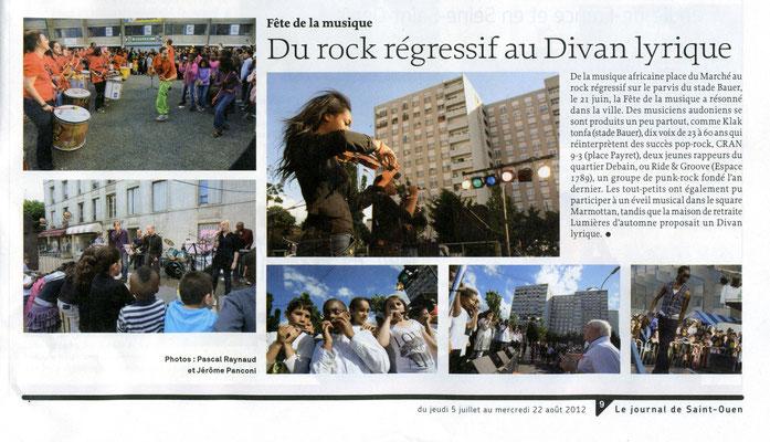 Le Journal de Saint-Ouen - du 05 juillet au 22 août 2012