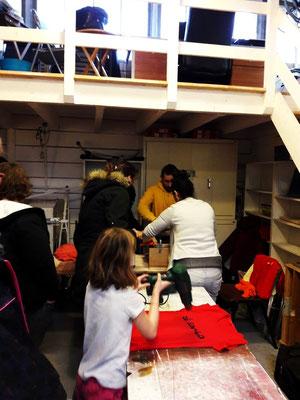 Atelier Sérigraphie - Janvier 2017 - à l'Atelier Solidaire - Association Zé Samba