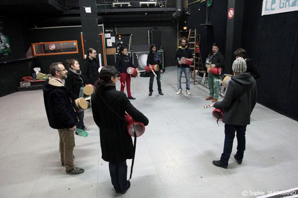 Week-end de formation – Création participative Le 1er et 2 Février nous avons organisé un week-end de réflexion et de formation dédié à la recherche artistique en espace public et à la création participative.