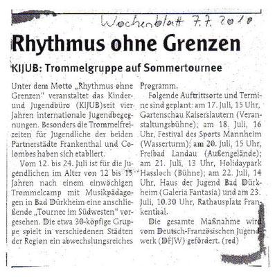 Wochenblatt - Allemagne - 07 Juillet 2010