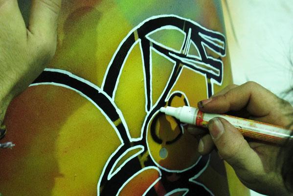 Peinture sur Tambours