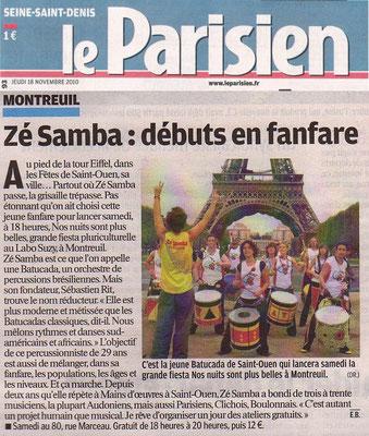 Le Parisien 93 Jeudi 18 novembre 2010