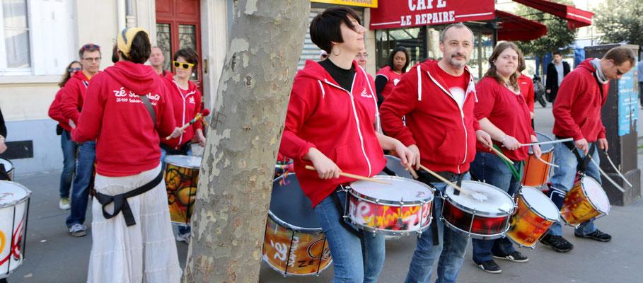 Batucada Zé Samba au Semi-Marathon de Paris