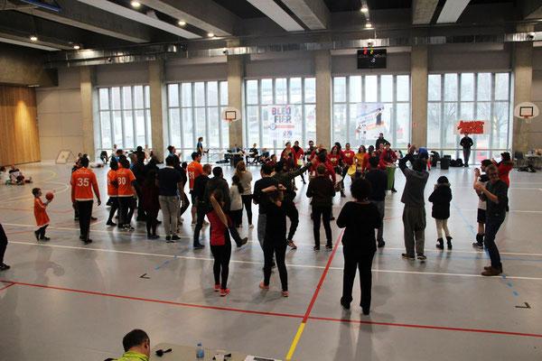Batucada Zé Samba au Championnat de France de Tchoukball avec ERA93