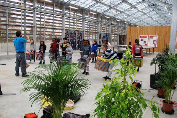 Répétition dans les serres pédagogiques du Grand Parc de Saint-Ouen © Tous droits réservés