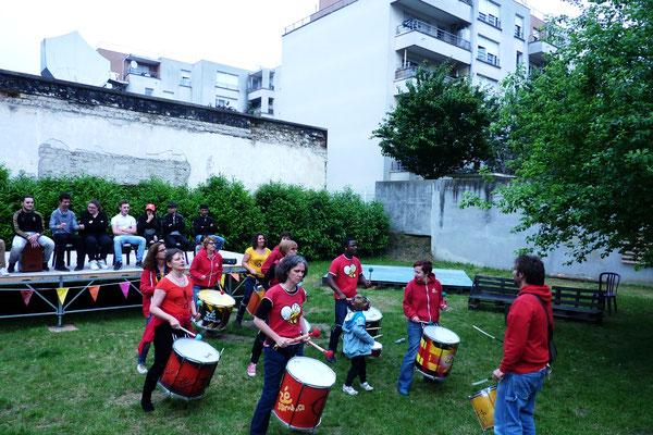 Batucada Zé Samba au Festival Passe à la Maison - Saint-Denis © Bar Gadoxe