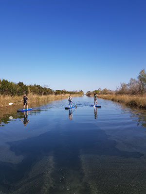Canal des Etangs en Stand up Paddle