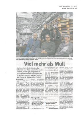 """Ruhrnachrichten Dortmund """"Stadtleben"""", 9.11.2017"""