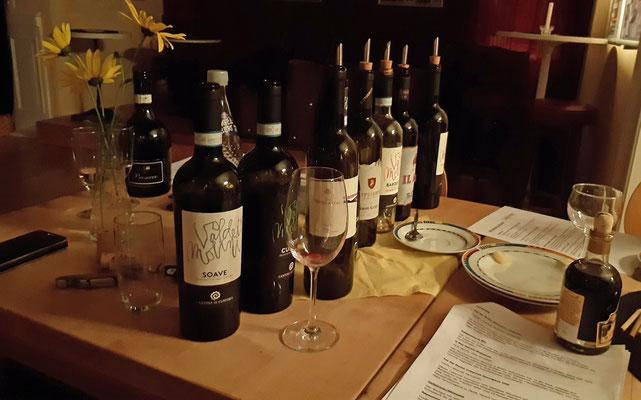 Viele wunderbare Weine wurden probiert