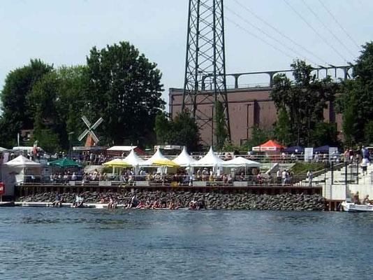 Im Stadthafen von Recklinghausen waren anlässlich des Festes viele Aktivitäten geplant.