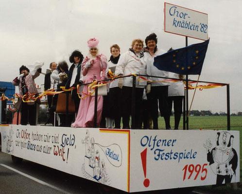 1995  -  Olfen, aufstrebende Stadt mit Kultur: 'In Olfen haben wir viel Geld, wir holen Stars aus aller Welt'