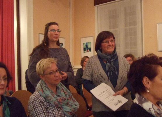 Die Kassenprüferinnen Carla Wagner und Renate Hartmann bestätigen die Richtigkeit der Kasse und bitten um die Entlastung.