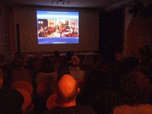 Mit einer Video-Presentation gibt Franz Frye ...