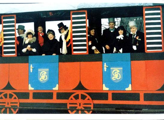 1986  -  Eisenbahnwagen: 'Olfen - Datteln - Express'
