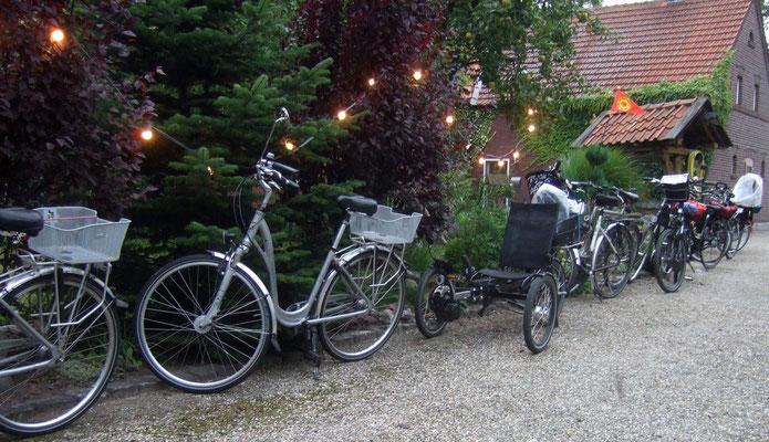 Der Fahrradparkplatz