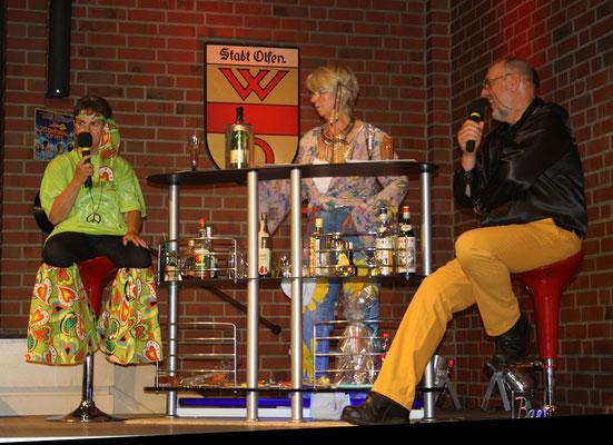 An der Bar erzählten Sabine Hennes, Agnes Vossmöller und Hartmut Sikorski über die 70er Jahre