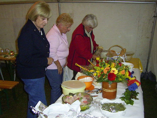 Herrliche Köstlichkeiten - von den Mitgliedern mitgebracht - sind zu einem Buffet aufgebaut