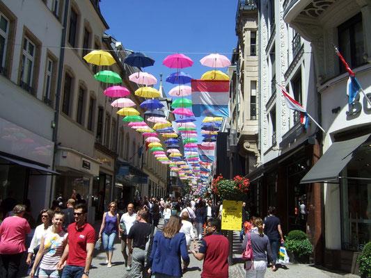 Einkaufstraße in Luxemburg