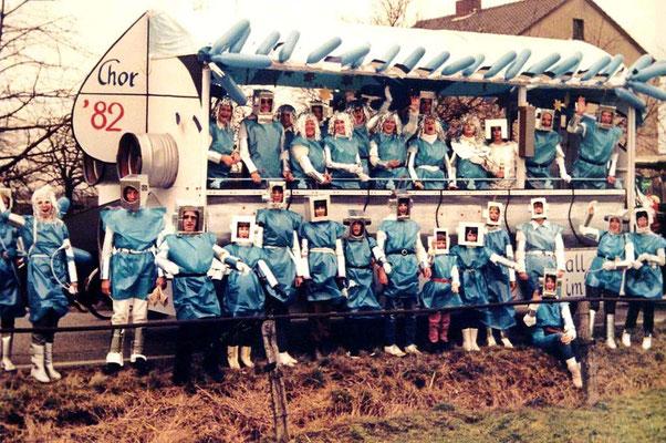 1984 - Raumschiff Chorion:  'Schon Merbold hörte unser'n Schall - wir sind der erste Chor im All'