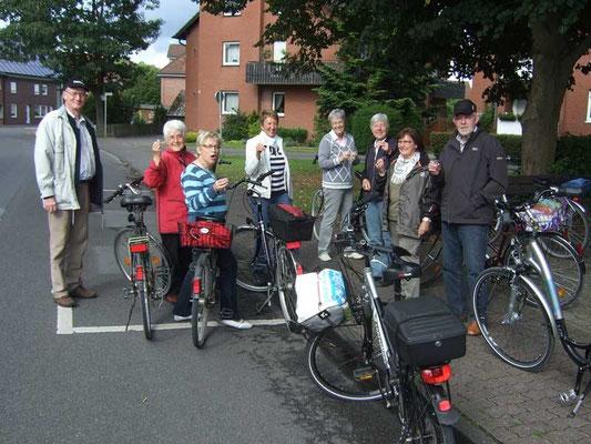 die Fahrradtour startet an der Sängerlinde