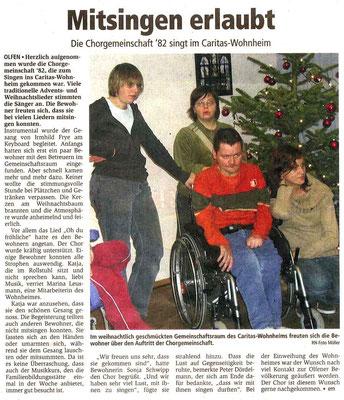 Ruhr Nachrichten vom 22.12.2008