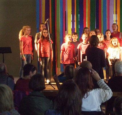 Beim Jungen Chor gab es auch 'Solo'-Gruppen ...